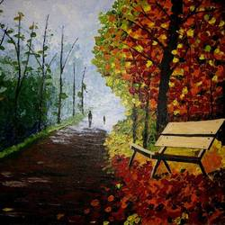 fading spring, 18 x 14 inch, somya jain,nature paintings,paintings for bedroom,canvas,acrylic color,18x14inch,GAL016354604Nature,environment,Beauty,scenery,greenery
