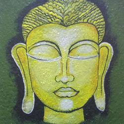 buddha the monk, 8 x 8 inch, reena jai sharma,8x8inch,canvas board,buddha paintings,paintings for dining room,paintings for living room,paintings for bedroom,paintings for office,paintings for kids room,paintings for hotel,paintings for hospital,paintings for dining room,paintings for living room,paintings for bedroom,paintings for office,paintings for kids room,paintings for hotel,paintings for hospital,acrylic color,mixed media,GAL02882046092
