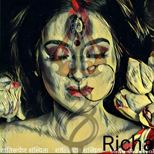 shanti rupa, 30 x 36 inch, richa mishra,30x36inch,canvas,paintings,figurative paintings,conceptual paintings,religious paintings,portrait paintings,paintings for dining room,paintings for living room,paintings for bedroom,paintings for office,paintings for hotel,paintings for school,paintings for hospital,ink color,GAL03313546101