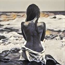 love yourself, 30 x 36 inch, richa mishra,30x36inch,canvas,paintings,figurative paintings,art deco paintings,paintings for dining room,paintings for living room,paintings for bedroom,paintings for office,paintings for hotel,paintings for school,paintings for hospital,ink color,GAL03313546109
