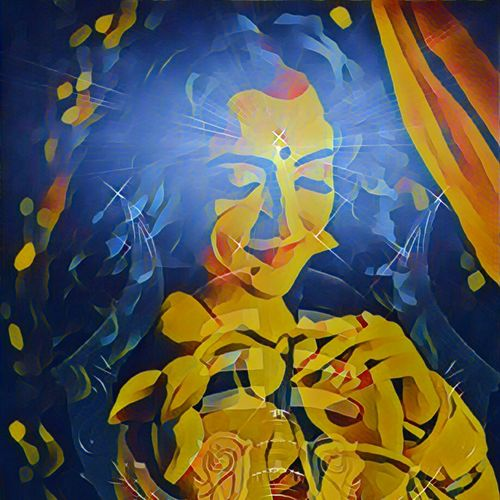 rupam dehi, 36 x 36 inch, richa mishra,36x36inch,canvas,paintings,figurative paintings,religious paintings,portrait paintings,paintings for dining room,paintings for living room,paintings for bedroom,paintings for office,paintings for kids room,paintings for hotel,paintings for school,paintings for hospital,ink color,GAL03313546117