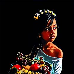 baby girl, 30 x 24 inch, richa mishra,30x24inch,canvas,paintings,figurative paintings,still life paintings,portrait paintings,paintings for dining room,paintings for living room,paintings for bedroom,paintings for office,paintings for kids room,paintings for hotel,paintings for school,paintings for hospital,ink color,GAL03313546129