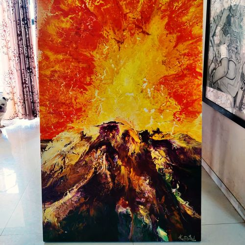 pour painting - irenic, 36 x 60 inch, kavitha sunil,36x60inch,canvas,paintings,abstract paintings,landscape paintings,modern art paintings,nature paintings | scenery paintings,abstract expressionism paintings,pop art paintings,paintings for dining room,paintings for living room,paintings for bedroom,paintings for office,paintings for hotel,paintings for kitchen,paintings for school,paintings for hospital,acrylic color,GAL03313846138