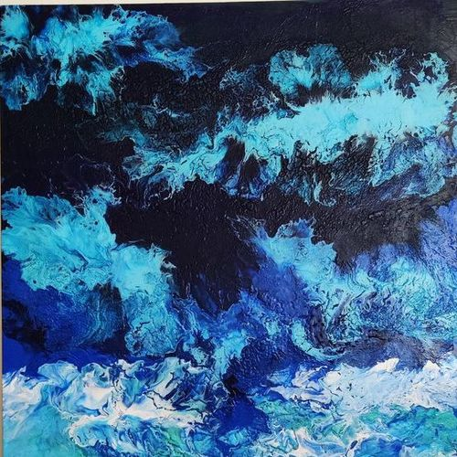 element series-water, 57 x 70 inch, kavitha sunil,57x70inch,canvas,paintings,abstract paintings,landscape paintings,modern art paintings,nature paintings | scenery paintings,pop art paintings,realistic paintings,paintings for dining room,paintings for living room,paintings for bedroom,paintings for office,paintings for hotel,paintings for school,paintings for hospital,acrylic color,GAL03313846140