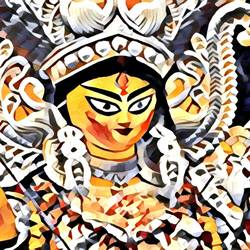 durga, 48 x 24 inch, richa mishra,48x24inch,canvas,paintings,figurative paintings,religious paintings,still life paintings,portrait paintings,paintings for dining room,paintings for living room,paintings for bedroom,paintings for office,paintings for hotel,paintings for school,paintings for hospital,ink color,GAL03313546141