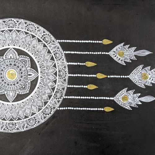 dreamcatcher, 22 x 15 inch, vidhya sri,22x15inch,thick paper,drawings,fine art drawings,folk drawings,paintings for dining room,paintings for living room,paintings for bedroom,paintings for hotel,pen color,GAL03317646149