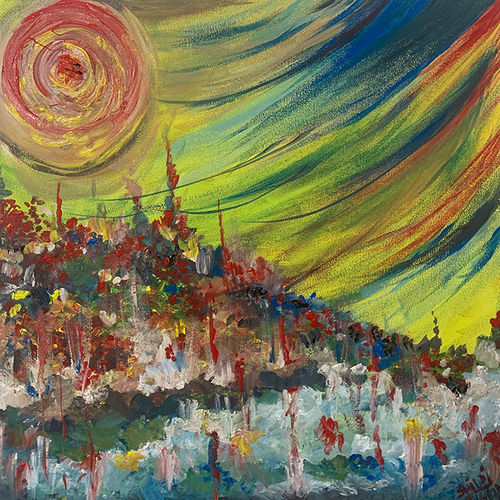 the storm, 24 x 24 inch, shilpi chopra,24x24inch,canvas,abstract paintings,acrylic color,GAL0522446189