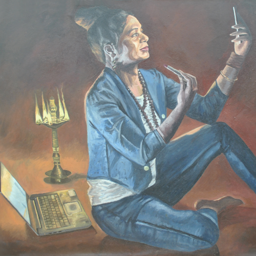 characterefferent, 60 x 45 inch, kumar avinash,60x45inch,canvas,paintings,figurative paintings,paintings for living room,paintings for hotel,oil color,GAL03320946201