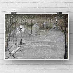 loneliness in a snowy night, original watercolour painting, monochrome black and white , 8 x 6 inch, deepika gautam,8x6inch,renaissance watercolor paper,paintings,landscape paintings,still life paintings,nature paintings | scenery paintings,minimalist paintings,photorealism paintings,photorealism,realism paintings,surrealism paintings,realistic paintings,paintings for dining room,paintings for living room,paintings for bedroom,paintings for office,paintings for hotel,paintings for kitchen,paintings for school,paintings for hospital,watercolor,paper,GAL02401046214