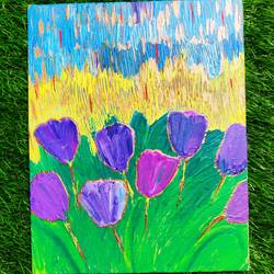 tulip garden, 8 x 10 inch, prachi sharma,8x10inch,canvas board,abstract paintings,flower paintings,landscape paintings,modern art paintings,abstract expressionism paintings,illustration paintings,contemporary paintings,paintings for dining room,paintings for living room,paintings for bedroom,paintings for office,paintings for hotel,paintings for dining room,paintings for living room,paintings for bedroom,paintings for office,paintings for hotel,acrylic color,GAL03325746282