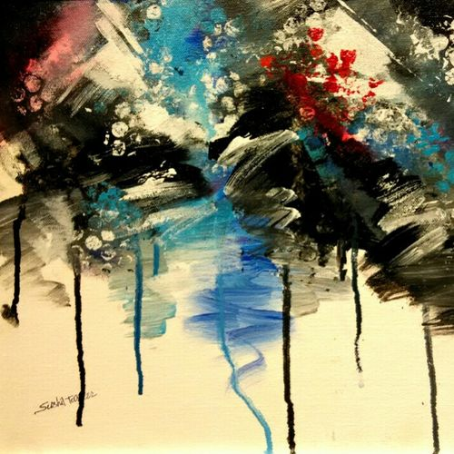 glossy shade , 12 x 14 inch, sushil  tarbar ,abstract paintings,paintings for office,canvas,acrylic color,12x14inch,GAL0144463