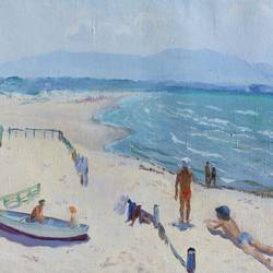 near the sea, 24 x 15 inch, moesey li,landscape paintings,paintings for living room,canvas,oil paint,24x15inch,GAL07184634