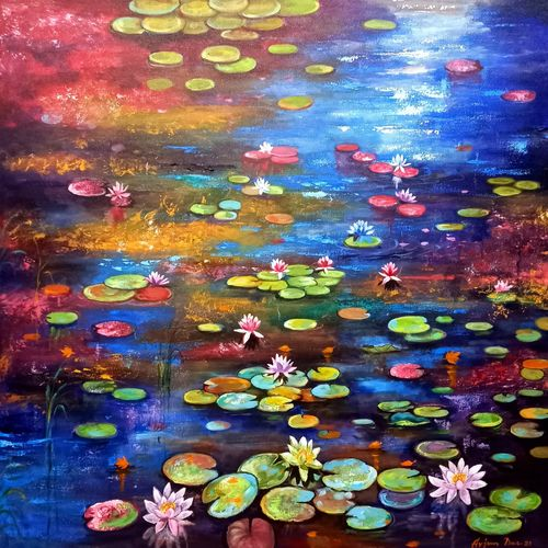beauty of nature 21, 36 x 36 inch, arjun das,36x36inch,canvas,paintings,flower paintings,conceptual paintings,nature paintings | scenery paintings,expressionism paintings,contemporary paintings,paintings for dining room,paintings for living room,paintings for bedroom,paintings for office,paintings for bathroom,paintings for kids room,paintings for hotel,paintings for kitchen,paintings for school,paintings for hospital,acrylic color,GAL011246423