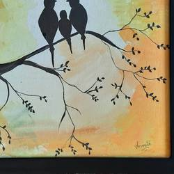 happy family, 18 x 14 inch, aromita  sarkar,18x14inch,canvas board,paintings,nature paintings | scenery paintings,paintings for dining room,paintings for living room,paintings for bedroom,paintings for office,paintings for kids room,paintings for hotel,paintings for kitchen,paintings for school,paintings for hospital,acrylic color,GAL02883246435