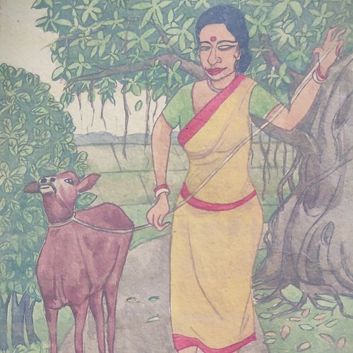 indian village life 1, 6 x 9 inch, krishna  mondal ,6x9inch,paper,paintings,figurative paintings,conceptual paintings,nature paintings   scenery paintings,expressionism paintings,illustration paintings,impressionist paintings,minimalist paintings,photorealism paintings,photorealism,realism paintings,animal paintings,contemporary paintings,miniature painting.,paintings for dining room,paintings for living room,paintings for bedroom,paintings for office,paintings for bathroom,paintings for kids room,paintings for hotel,paintings for kitchen,paintings for school,paintings for hospital,watercolor,GAL03095446440