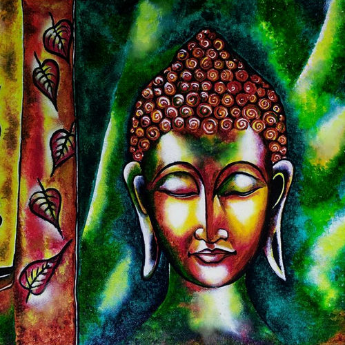buddha living room art, 34 x 27 inch, akash bhisikar,34x27inch,canvas,paintings,abstract paintings,buddha paintings,landscape paintings,modern art paintings,religious paintings,art deco paintings,paintings for dining room,paintings for living room,paintings for bedroom,paintings for office,paintings for bathroom,paintings for kids room,paintings for hotel,paintings for kitchen,paintings for school,paintings for hospital,acrylic color,GAL01828646462