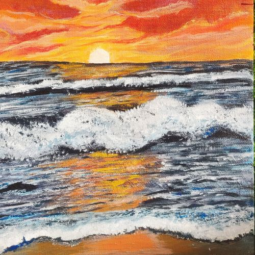 sunset, 10 x 12 inch, prachi sharma,10x12inch,canvas board,paintings,abstract paintings,modern art paintings,still life paintings,nature paintings | scenery paintings,illustration paintings,pop art paintings,paintings for dining room,paintings for living room,paintings for office,paintings for kids room,paintings for hotel,paintings for dining room,paintings for living room,paintings for office,paintings for kids room,paintings for hotel,acrylic color,GAL03325746471