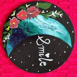 smile moon, 6 x 6 inch, hezil noronha,6x6inch,hardboard,paintings,abstract paintings,flower paintings,modern art paintings,nature paintings | scenery paintings,art deco paintings,illustration paintings,minimalist paintings,paintings for dining room,paintings for living room,paintings for bedroom,paintings for office,paintings for bathroom,paintings for kids room,paintings for hotel,paintings for kitchen,paintings for school,paintings for hospital,acrylic color,GAL03345446485