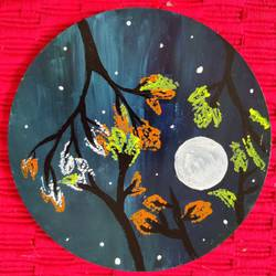 night sky, 6 x 6 inch, hezil noronha,6x6inch,hardboard,paintings,abstract paintings,flower paintings,nature paintings | scenery paintings,minimalist paintings,paintings for dining room,paintings for living room,paintings for bedroom,paintings for office,paintings for bathroom,paintings for kids room,paintings for hotel,paintings for kitchen,paintings for school,paintings for hospital,acrylic color,GAL03345446487