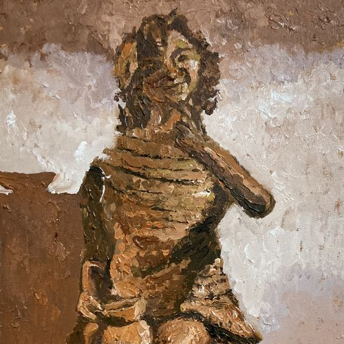 mud statue of a girl, 18 x 30 inch, adwait khot,18x30inch,canvas,still life paintings,portrait paintings,art deco paintings,expressionism paintings,surrealism paintings,contemporary paintings,paintings for dining room,paintings for living room,paintings for bedroom,paintings for office,paintings for hotel,paintings for dining room,paintings for living room,paintings for bedroom,paintings for office,paintings for hotel,acrylic color,GAL01329446514