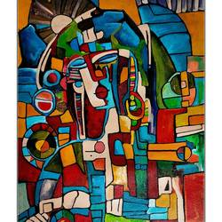 geo art, 12 x 20 inch, paresh more,12x20inch,canvas,paintings,abstract paintings,modern art paintings,cubism paintings,pop art paintings,acrylic color,GAL099746527