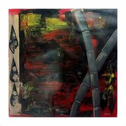 abstract bamboo, 15 x 15 inch, paresh more,15x15inch,canvas,paintings,abstract paintings,acrylic color,GAL099746533