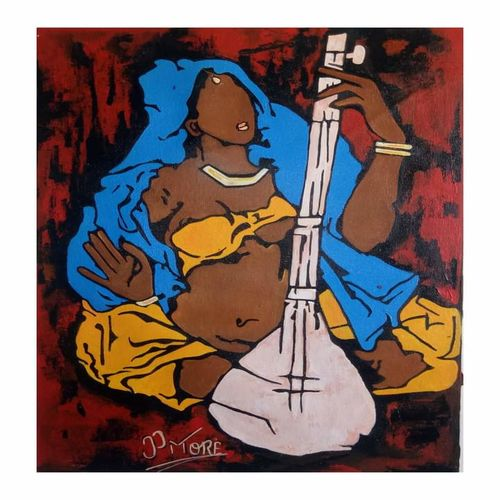 tribute to m f husai, 15 x 20 inch, paresh more,15x20inch,canvas,paintings,abstract paintings,figurative paintings,modern art paintings,acrylic color,GAL099746534