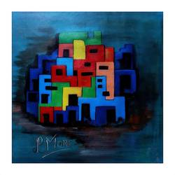 abstract, 15 x 15 inch, paresh more,15x15inch,canvas,paintings,acrylic color,GAL099746536