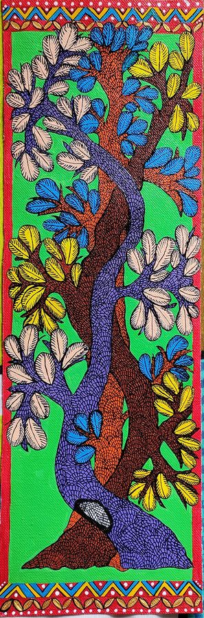 Tree of life gond painting