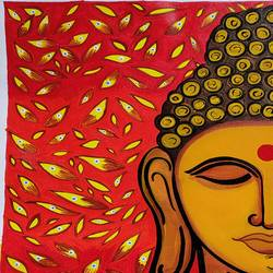 buddha painting, 12 x 16 inch, vartika dwivedi,12x16inch,canvas,paintings,buddha paintings,figurative paintings,folk art paintings,religious paintings,contemporary paintings,paintings for dining room,paintings for living room,paintings for office,paintings for hotel,paintings for dining room,paintings for living room,paintings for office,paintings for hotel,acrylic color,GAL03352246588