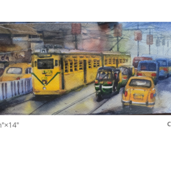 kolkata city of joy 2, 4 x 14 inch, krishna  mondal ,4x14inch,fabriano sheet,paintings,figurative paintings,cityscape paintings,modern art paintings,conceptual paintings,religious paintings,illustration paintings,impressionist paintings,photorealism paintings,photorealism,realism paintings,street art,realistic paintings,miniature painting.,paintings for dining room,paintings for living room,paintings for bedroom,paintings for office,paintings for bathroom,paintings for kids room,paintings for hotel,paintings for kitchen,paintings for school,paintings for hospital,watercolor,GAL03095446590