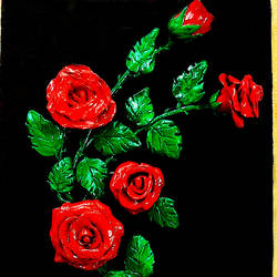 a bunch of rosed . , 10 x 12 inch, payel baral,10x12inch,canvas,handicrafts,sculptures,wall hangings,acrylic color,GAL03352846593