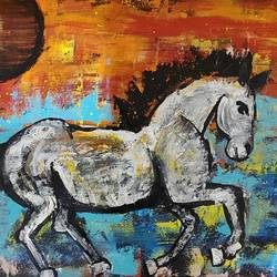 abstract horse - horse in a sunset, 24 x 19 inch, akash bhisikar,24x19inch,canvas,paintings,abstract paintings,wildlife paintings,modern art paintings,nature paintings | scenery paintings,art deco paintings,animal paintings,horse paintings,paintings for dining room,paintings for living room,paintings for bedroom,paintings for office,paintings for bathroom,paintings for kids room,paintings for hotel,paintings for kitchen,paintings for school,paintings for hospital,acrylic color,GAL01828646603