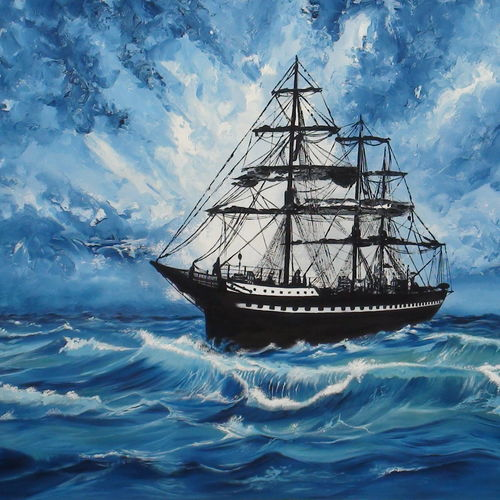 journey (ship and sea), 51 x 36 inch, pankaj malukar,51x36inch,canvas,paintings,nature paintings | scenery paintings,art deco paintings,realism paintings,realistic paintings,paintings for dining room,paintings for living room,paintings for bedroom,paintings for office,paintings for bathroom,paintings for kids room,paintings for hotel,paintings for kitchen,paintings for school,paintings for hospital,oil color,GAL03341446615