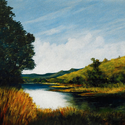 morning rays, 30 x 24 inch, seby augustine,30x24inch,canvas,paintings,landscape paintings,nature paintings | scenery paintings,paintings for dining room,paintings for living room,paintings for bedroom,paintings for office,paintings for bathroom,paintings for kids room,paintings for hotel,paintings for kitchen,paintings for school,paintings for hospital,acrylic color,GAL015046628