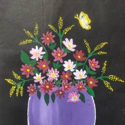 flower painting , 7 x 11 inch, krishna  mondal ,7x11inch,paper,paintings,impressionist paintings,photorealism,realistic paintings,miniature painting.,paintings for dining room,paintings for living room,paintings for bedroom,paintings for office,paintings for bathroom,paintings for kids room,paintings for hotel,paintings for kitchen,paintings for school,paintings for hospital,fabric,poster color,GAL03095446638