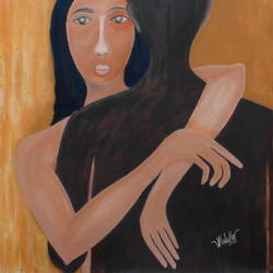 better half, 34 x 26 inch, pankaj malukar,34x26inch,canvas,paintings,abstract paintings,figurative paintings,folk art paintings,modern art paintings,conceptual paintings,portrait paintings,art deco paintings,minimalist paintings,paintings for dining room,paintings for living room,paintings for bedroom,paintings for office,paintings for bathroom,paintings for kids room,paintings for hotel,paintings for kitchen,paintings for school,paintings for hospital,oil color,GAL03341446645