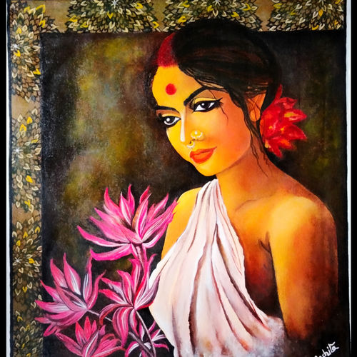 desire, 23 x 20 inch, rachita bhaumik ,23x20inch,canvas,paintings,figurative paintings,modern art paintings,portrait paintings,photorealism paintings,paintings for dining room,paintings for living room,paintings for bedroom,paintings for office,paintings for hotel,acrylic color,GAL02099646661