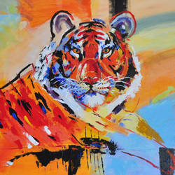 the mighty tiger, 48 x 24 inch, vivek singh,48x24inch,canvas,paintings,abstract paintings,wildlife paintings,modern art paintings,conceptual paintings,still life paintings,nature paintings | scenery paintings,abstract expressionism paintings,expressionism paintings,contemporary paintings,paintings for dining room,paintings for living room,paintings for bedroom,paintings for office,paintings for kids room,paintings for hotel,paintings for school,paintings for dining room,paintings for living room,paintings for bedroom,paintings for office,paintings for kids room,paintings for hotel,paintings for school,acrylic color,GAL03304946663