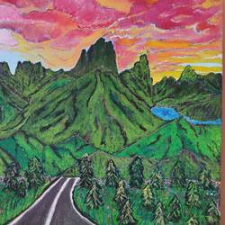 mountains, 12 x 10 inch, prachi sharma,12x10inch,canvas board,paintings,acrylic color,GAL03325746673