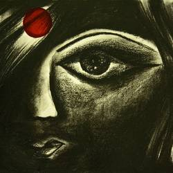 naari unleashed-1, 16 x 11 inch, kirthana ravikumar,conceptual paintings,paintings for living room,ivory sheet,charcoal,16x11inch,GAL016534668
