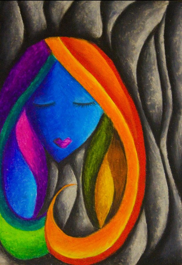 rainbow thoughts, 11 x 16 inch, kirthana ravikumar,illustration paintings,paintings for living room,ivory sheet,pastel color,11x16inch,GAL016534669