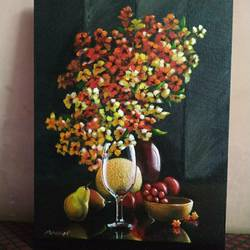 colours in nature glass, 16 x 20 inch, abhishek pachkale,16x20inch,canvas board,paintings,realistic paintings,acrylic color,GAL03362446693