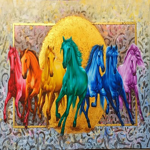 Galloping horses symbolize upward movement which could mean a promotion or growth in a career.