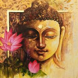 For a calm and peaceful life, bring home a painting of Buddha in the state of meditation. Doing so will help you manage any stress in your life a lot better. Meditating Buddha should be kept in the prayer room, bedroom, or study room