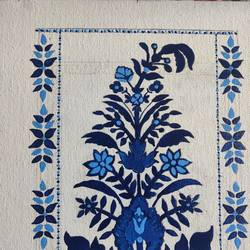 paisley blue , 12 x 10 inch, manika sarin,12x10inch,canvas,paintings,flower paintings,paintings for dining room,paintings for bedroom,paintings for dining room,paintings for bedroom,acrylic color,GAL03372146799