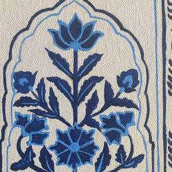mughal rush blue, 12 x 10 inch, manika sarin,12x10inch,canvas,paintings,abstract paintings,flower paintings,conceptual paintings,art deco paintings,paintings for dining room,paintings for living room,paintings for bedroom,paintings for office,acrylic color,GAL03372146806