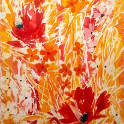 flower painting, 25 x 28 inch, basil bhatia,25x28inch,drawing paper,paintings,flower paintings,paintings for dining room,paintings for living room,paintings for bedroom,paintings for office,paintings for hotel,paintings for kitchen,watercolor,GAL03360546842