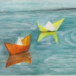 aspirations, 18 x 12 inch, narendra gangakhedkar,18x12inch,thick paper,paintings,expressionism paintings,paintings for dining room,paintings for living room,paintings for bedroom,paintings for office,watercolor,GAL03375446844