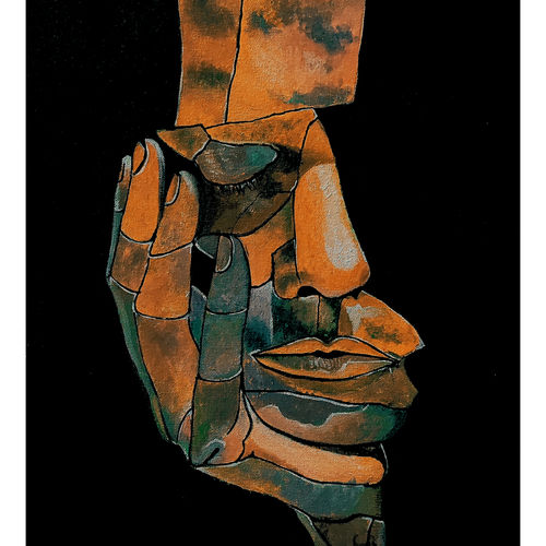 pause for thought 02 - sculpture art, 17 x 21 inch, akash bhisikar,17x21inch,canvas,paintings,abstract paintings,figurative paintings,modern art paintings,conceptual paintings,still life paintings,portrait paintings,abstract expressionism paintings,art deco paintings,expressionism paintings,pop art paintings,portraiture,contemporary paintings,love paintings,paintings for dining room,paintings for living room,paintings for bedroom,paintings for office,paintings for bathroom,paintings for kids room,paintings for hotel,paintings for kitchen,paintings for school,paintings for hospital,mixed media,GAL01828646862